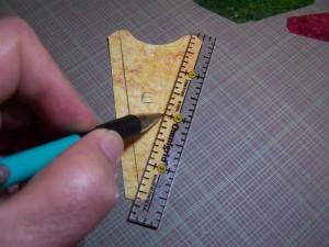 Marking stitching lines