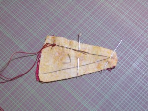Stitching the outside edges together first