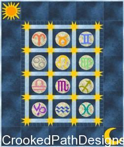 The Sun, the Moon & the Stars zodiac quilt in EQ7.